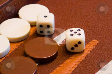 Backgammon Game stock photo, Ein sehr altes Brettspiel f???r 2 Personen aus dem arabischen Raum by Wolfgang Heidasch