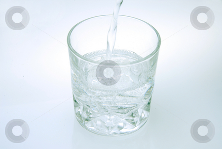 Fresh water stock photo, Glass of fresh water on white background by Joanna Szycik