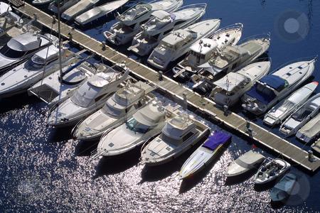 Monaco marina stock photo, Collection of luxury boats moored in Monaco marina. by Ronald Hudson