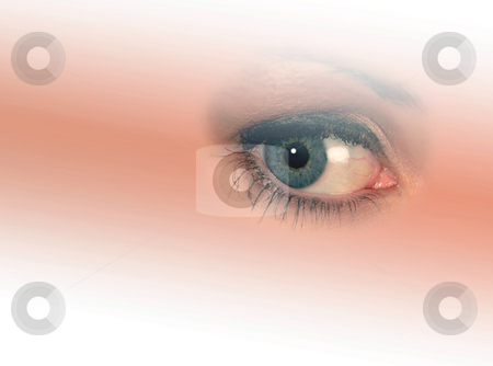 Woman's eye stock photo, Isolated woman's eye on graduated, faded background by Ronald Hudson