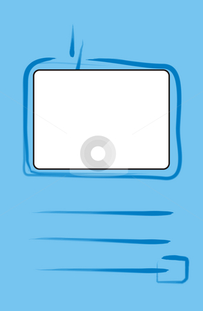 Blue frame booklet stock photo, An illustration of a blue frame booklet by Markus Gann