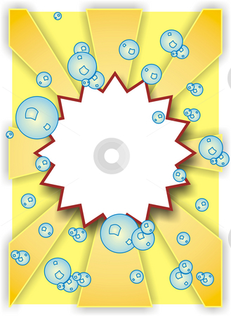 Bubbles stock photo, A illustration of a star frame with bubbles by Markus Gann