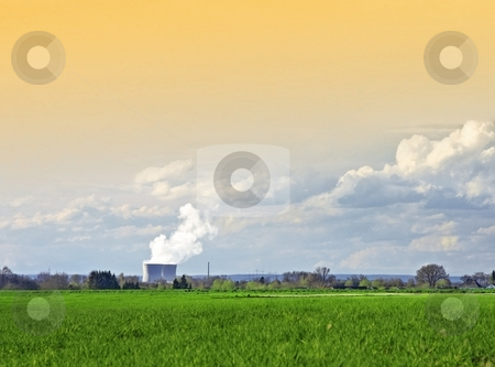Nuclear power station stock photo, A photography of a nuclear power station by Markus Gann