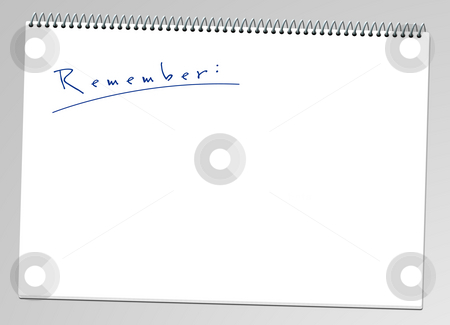 Notepad stock photo, A illustration of a remember note pad by Markus Gann