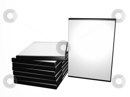 DVD boxes stock photo, A illustration of a stock of DVD boxes by Markus Gann