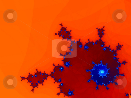 Classic red fractal stock photo, An illustration of an abstract fractal graphic. by Markus Gann