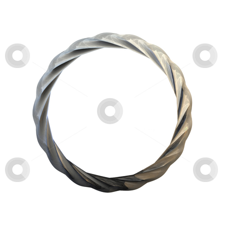 Metal frame stock photo, A illustration of a circle metal frame by Markus Gann