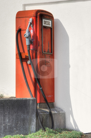 Diesel stock photo, A photography of an old german gas station by Markus Gann