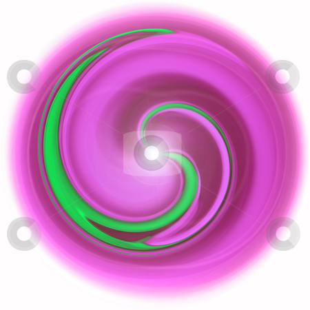 Abstract circle stock photo, An illustration of an magenta green abstract circle by Markus Gann