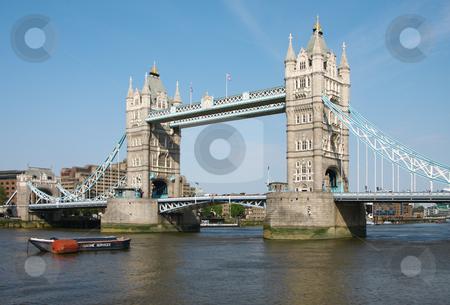 Tower bridge in London stock photo, A photography of the attraction Tower bridge in London by Markus Gann