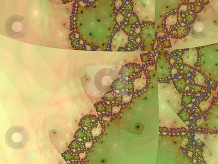 Brown green fractal stock photo, An illustration of an abstract fractal graphic. by Markus Gann