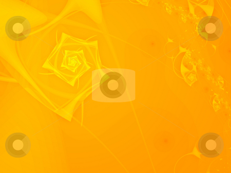 Bright orange fractal stock photo, An illustration of an abstract fractal graphic. by Markus Gann