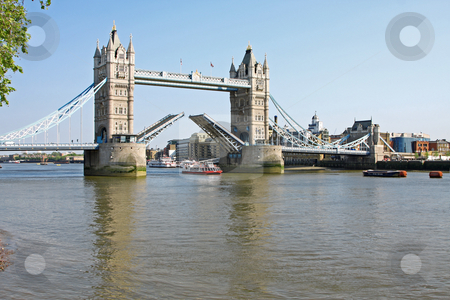 Tower bridge in London open stock photo, The attraction Tower bridge in London is open by Markus Gann
