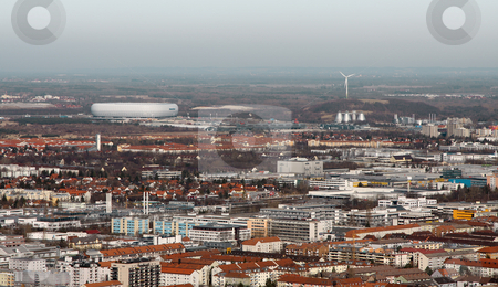 Munich with arena stock photo, A photography of munich with the arena by Markus Gann