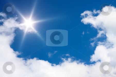 Sunny sky background stock photo, A photography of a sunny sky background by Markus Gann