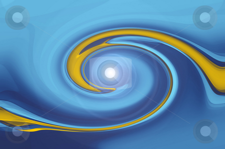 Abstract circle stock photo, An illustration of an blue orange abstract circle by Markus Gann