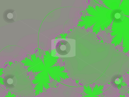 Green leaf fractal stock photo, An illustration of an abstract fractal graphic. by Markus Gann