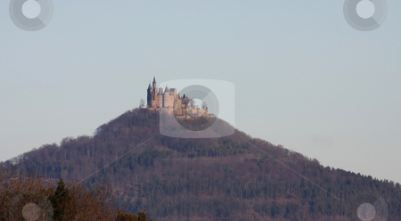 Hohenzollern castle stock photo, A photography of the Hohenzollern castle in germany by Markus Gann