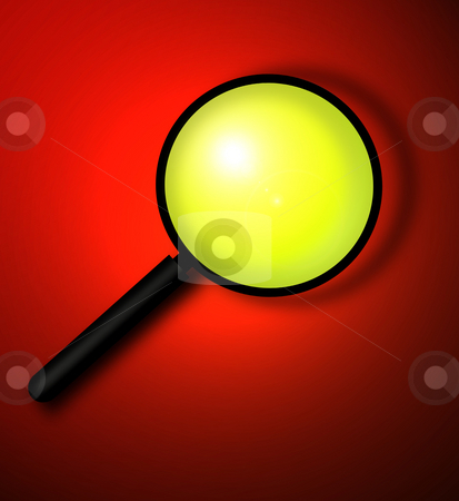 Magnifying glass stock photo, Magnifying glass,2D digital art by Janaka Dharmasena