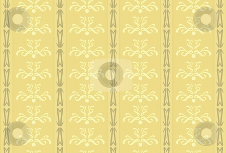 Old wallpaper stock photo, An illustration of an old vintage wallpaper by Markus Gann