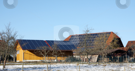 Solar energy stock photo, A Photograph of a solar cell energy technology by Markus Gann