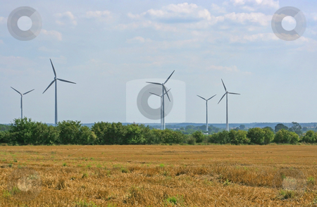 Windpower stock photo, A photography of a group of windmills by Markus Gann