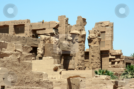 Luxor temple stock photo, A photography of an old historic place in Luxor Egypt by Markus Gann