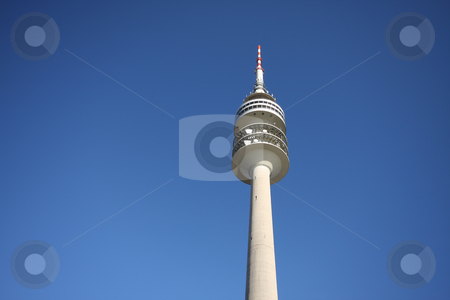 Olympic tower in munich stock photo, A photography of the olympic tower in munich by Markus Gann