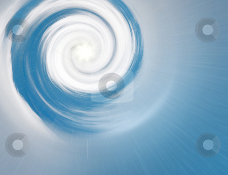 Cloud spiral stock photo, A illustration of a bright cloud spiral by Markus Gann