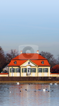 Nymphenburg Munich Bavaria Germany stock photo, A Photograph of a house at Nymphenburg Munich Bavaria Germany by Markus Gann