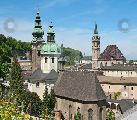 Salzburg stock photo, A photography of a view to salzburg by Markus Gann