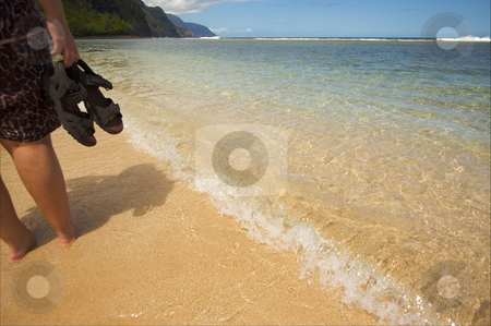 Crashing Wave on the Napali Shoreline stock photo, Crashing Waves on the Napali Shoreline, Kauai by Andy Dean