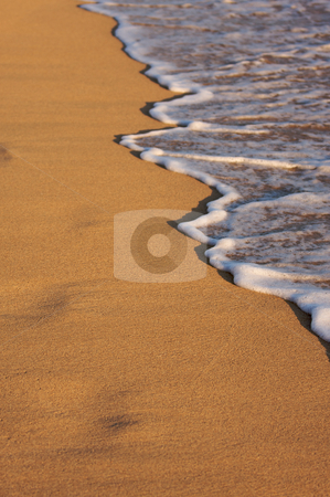 Beach Shoreline Wash stock photo, Beach Shoreline in the Early Monring Sun, by Andy Dean