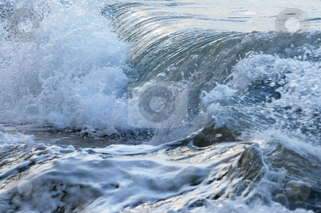 Waves in stormy ocean stock photo, Big crashing waves in a stormy ocean by Elena Elisseeva