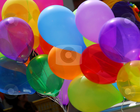 Colorful balloons stock photo, Bunch of colorful balloons by Elena Elisseeva