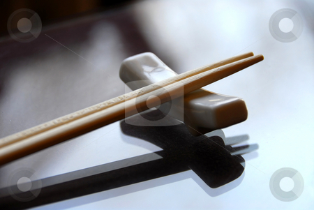 Chopsticks stock photo, Chopsticks on a holder by Elena Elisseeva