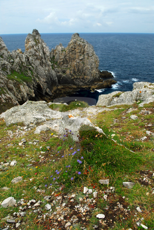 Atlantic coast in Brittany stock photo, Scenic view from Pointe de Penhir on Atlantic coast in Brittany, France. by Elena Elisseeva