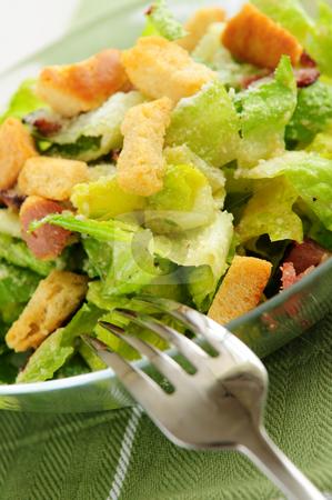 Caesar salad stock photo, Fresh caesar salad served in a glass bowl by Elena Elisseeva
