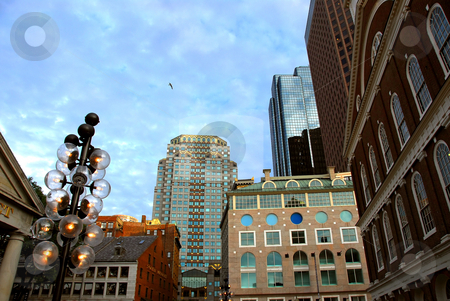 Boston downtown stock photo, Buildings in downtown Boston on a bright sunny day by Elena Elisseeva