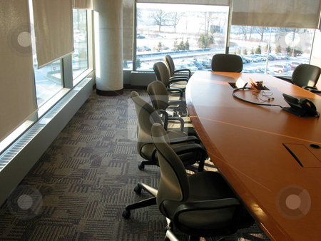 Conference room stock photo, Business conference or meeting room on a sunny afternoon by Elena Elisseeva