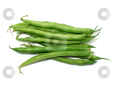Green beans on white stock photo, Green beans isolated on white background by Elena Elisseeva