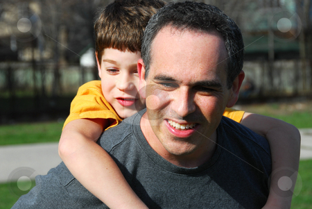 Father son family stock photo, Father and son by Elena Elisseeva