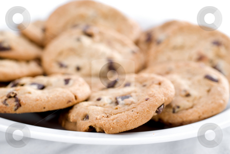 Closeup of cookies stock photo, A closeup of chocolate chip cookies by Vince Clements