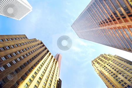 Corporate buildings stock photo, Several corporate buildings in city business center by Elena Elisseeva