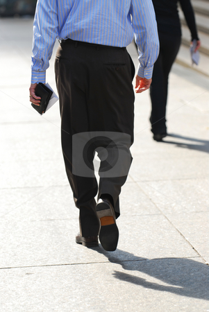 Business people walking stock photo, Business people walking on a busy street downtown by Elena Elisseeva