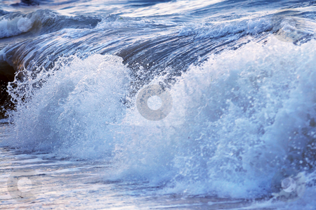 Wave in stormy ocean stock photo, Big crashing wave in a stormy ocean by Elena Elisseeva