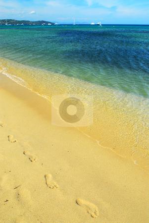 Mediterranean beach stock photo, Pampelonne beach near St. Tropez in French Riviera by Elena Elisseeva
