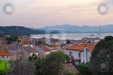 St.Tropez at sunset stock photo, View on St. Tropez in French Riviera at sunset by Elena Elisseeva