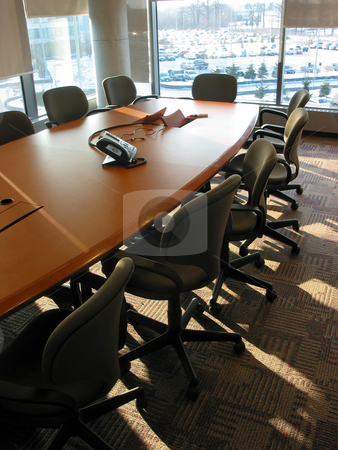 Conference room stock photo, Empty business conference room by Elena Elisseeva