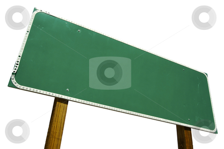 Blank Road Sign Isolated on White with Clipping Path stock photo, Blank Road Sign Isolated on White with Clipping Path by Andy Dean